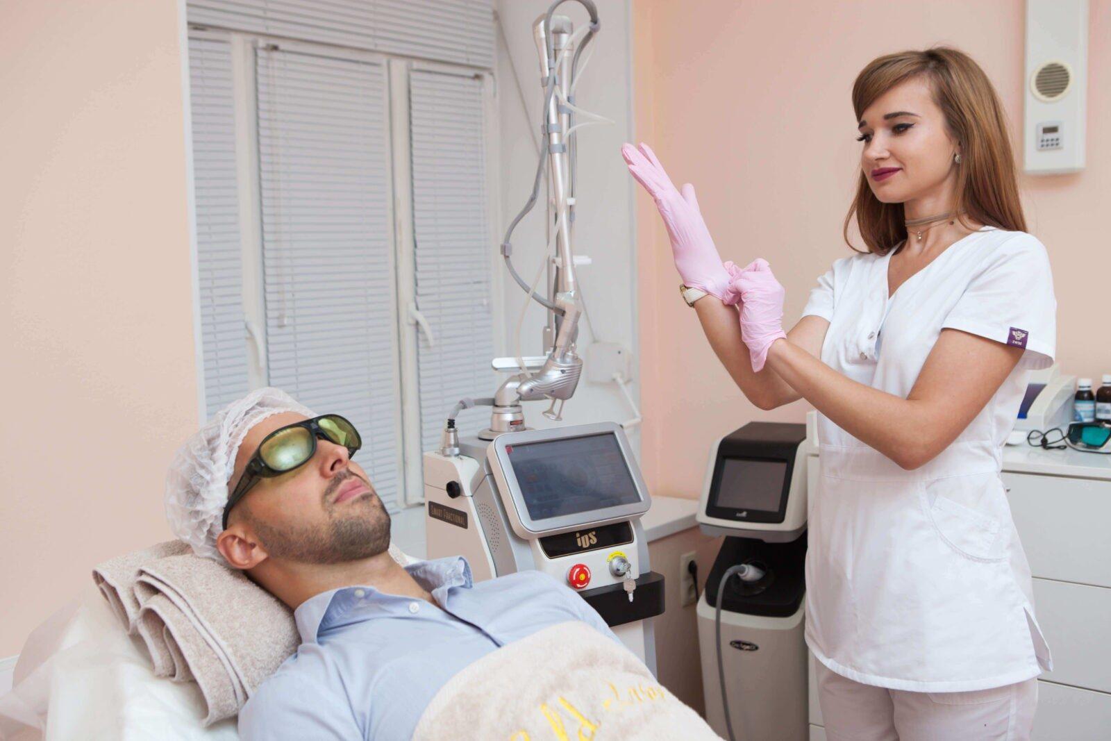 Лазерное лечение грибка ногтей в Gold laser